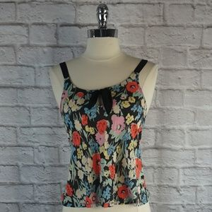 UO KImchi Blue Floral Tank Top XS